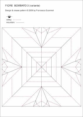 Origami CP Fiore Bombato 3, variante - Curved flower 3, variant, Francesco Guarnieri