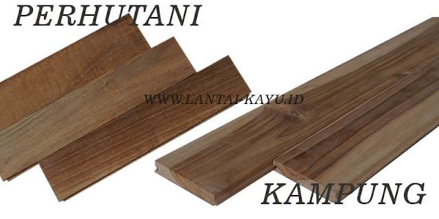 Perbedaan kayu jati kampung dan Perhutani