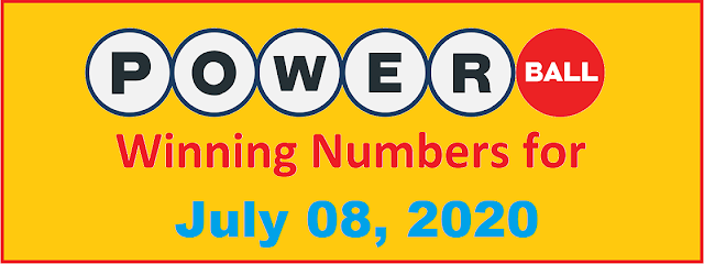 PowerBall Winning Numbers for Wednesday, July 08, 2020