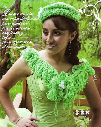 Conjunto Bufanda y Gorro Estilo Argentino de Crochet
