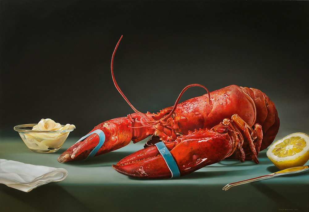08-The-Lobster-Tjalf-Sparnaay-The-Beauty-of-the-Everyday-Paintings-of-Food-Art-www-designstack-co