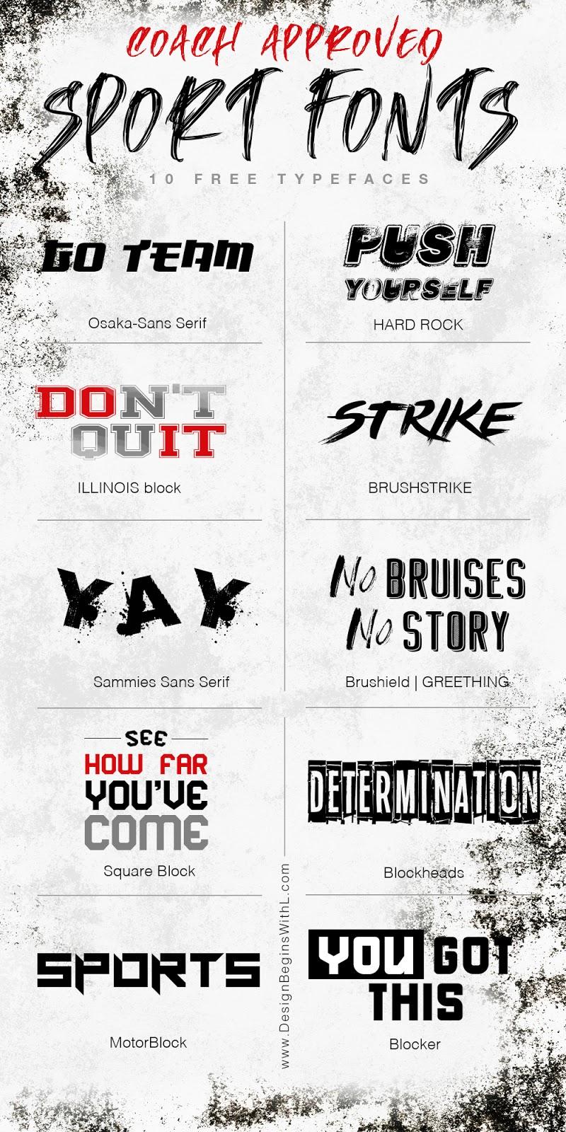 10 Free Sports Fonts