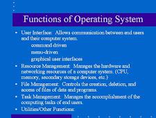Fungsi Operating Systems Pada Komputer