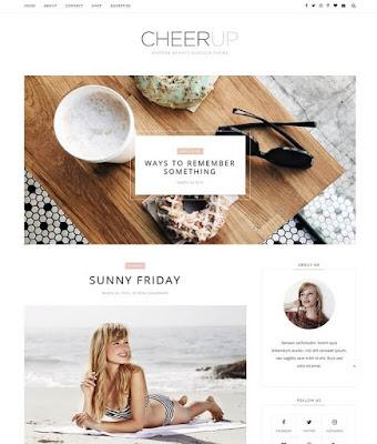 flower blogger template, Cheerup Blogger Template 2018