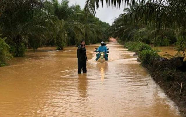 Sebagian Wilayah di Desa Bagan Asam dan Desa Teraju Kabupaten Sanggau Terendam Banjir