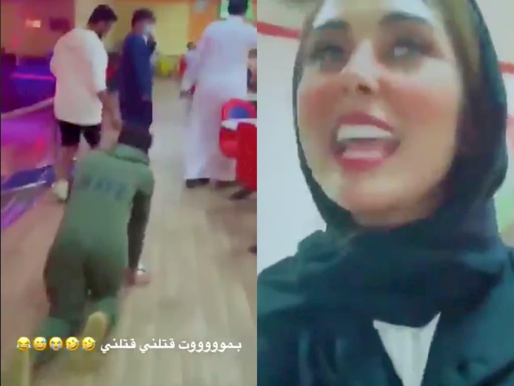 """سعودي يتحول إلى """"كلب"""" بأمر من زوجته المشهورة علي السناب ..!!؟"""