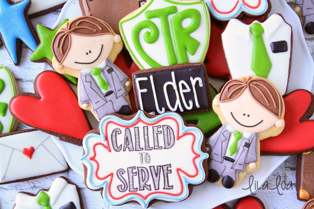 How to make decorated Elder Missionary Cookies ~ Tutorial