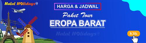 Jadwal dan Harga Paket Wisata Halal Tour Eropa Barat
