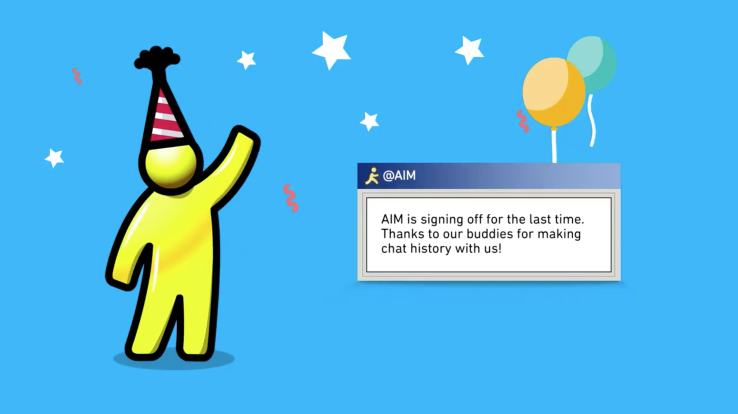 AOL AIM shutting down signing out trickdump
