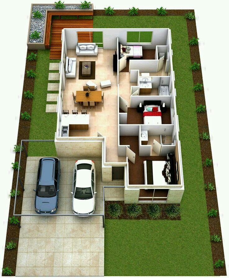 Denah Rumah Minimalis 3 Kamar Ukuran 6x12  kumpulan gambar rumah minimalis modern ukuran 6x12