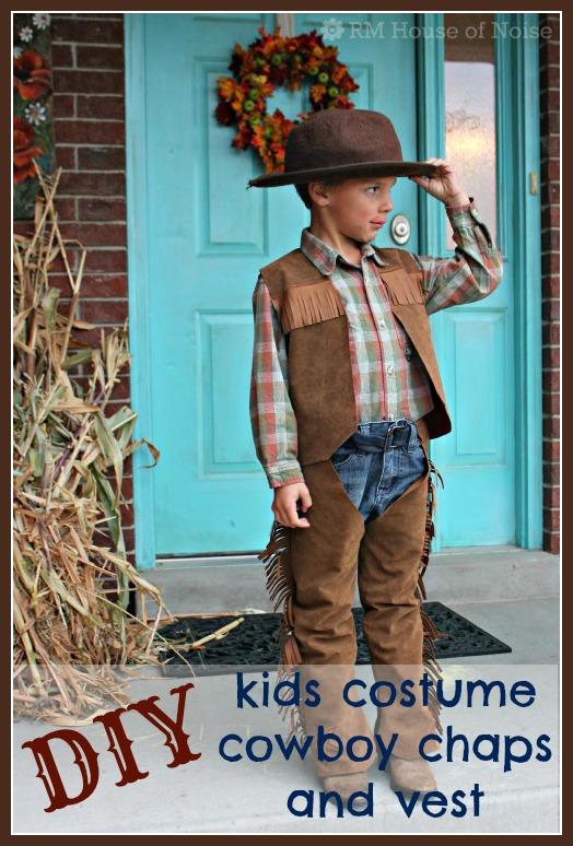 DIY Kids Costume - Cowboy Chaps and Vest  sc 1 st  House of Noise... I mean boys. & House of Noise... I mean boys.: DIY: Kids Costume - Cowboy Chaps and ...