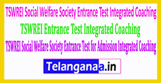 TSWREI Social Welfare Society Entrance Test 2018 for Admission into Inter with Integrated Coaching
