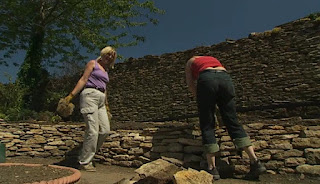 Rebuilding the dry stone wall