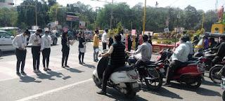 सड़क सुरक्षा जागरूकता अभियान चलाया