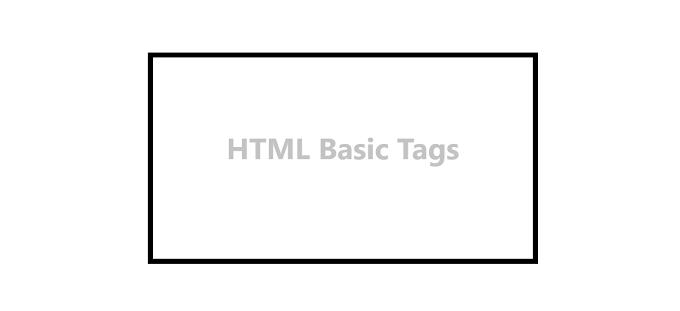 HTML Basic Tags