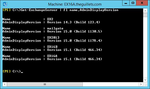 The EXPTA {blog}: How to Quickly Determine Exchange Server