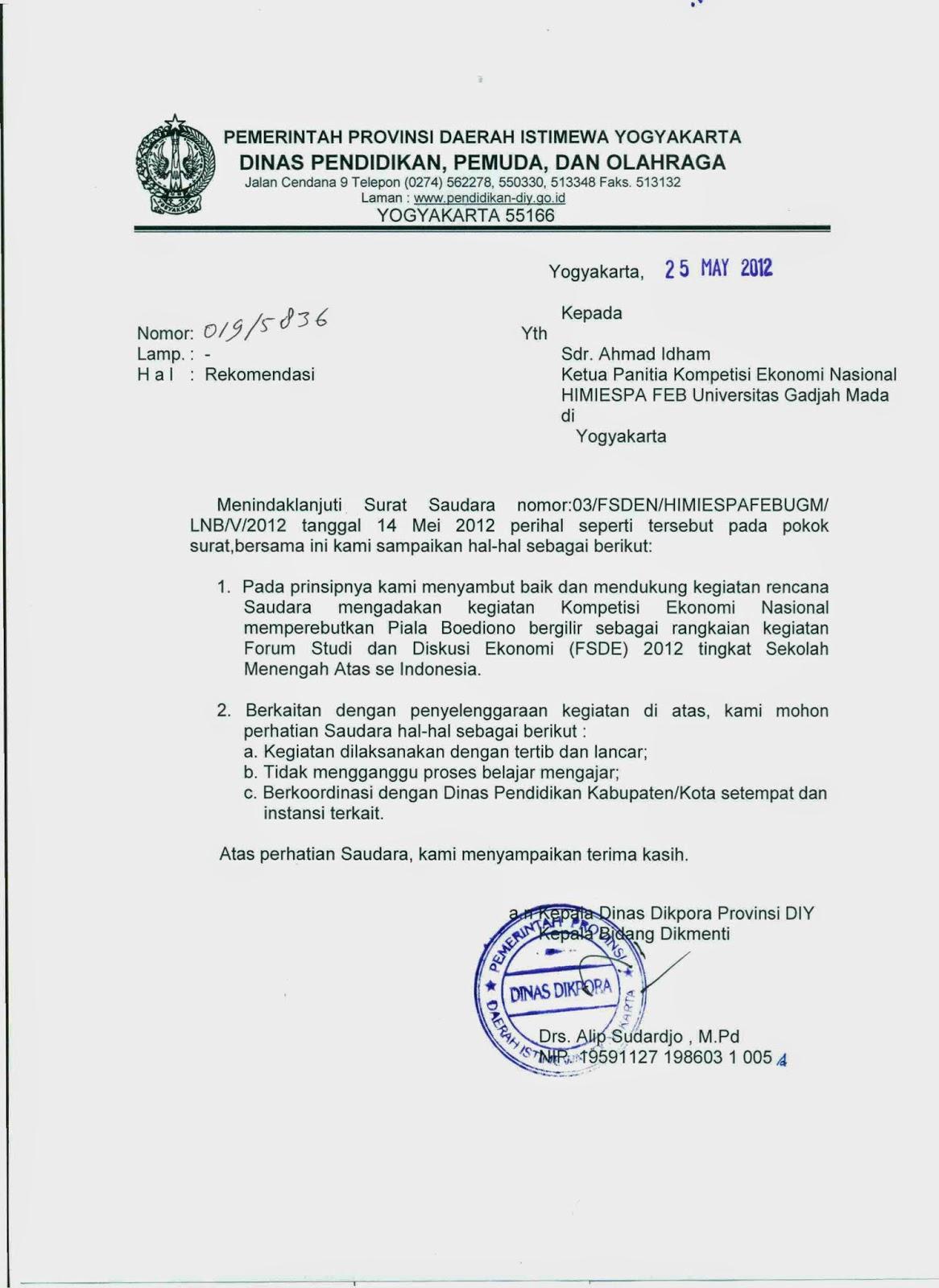 Contoh Surat Rumah Dinas Surat 26