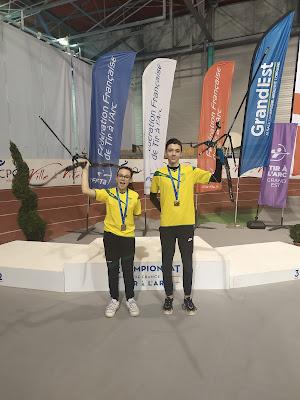 Championnat de France de tir à l'arc 2020 à Vittel - des Gardois sur le podium