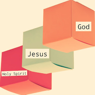 The above diagram is an artist's impression of the unity of the Trinity. God, Jesus and the Holy Spirit is One, inseparable.