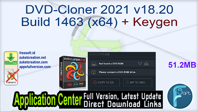 DVD-Cloner 2021 v18.20 Build 1463 (x64) + Keygen