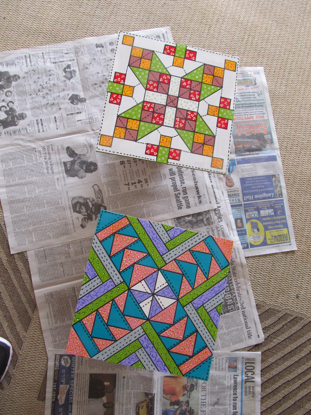 making barn quilts