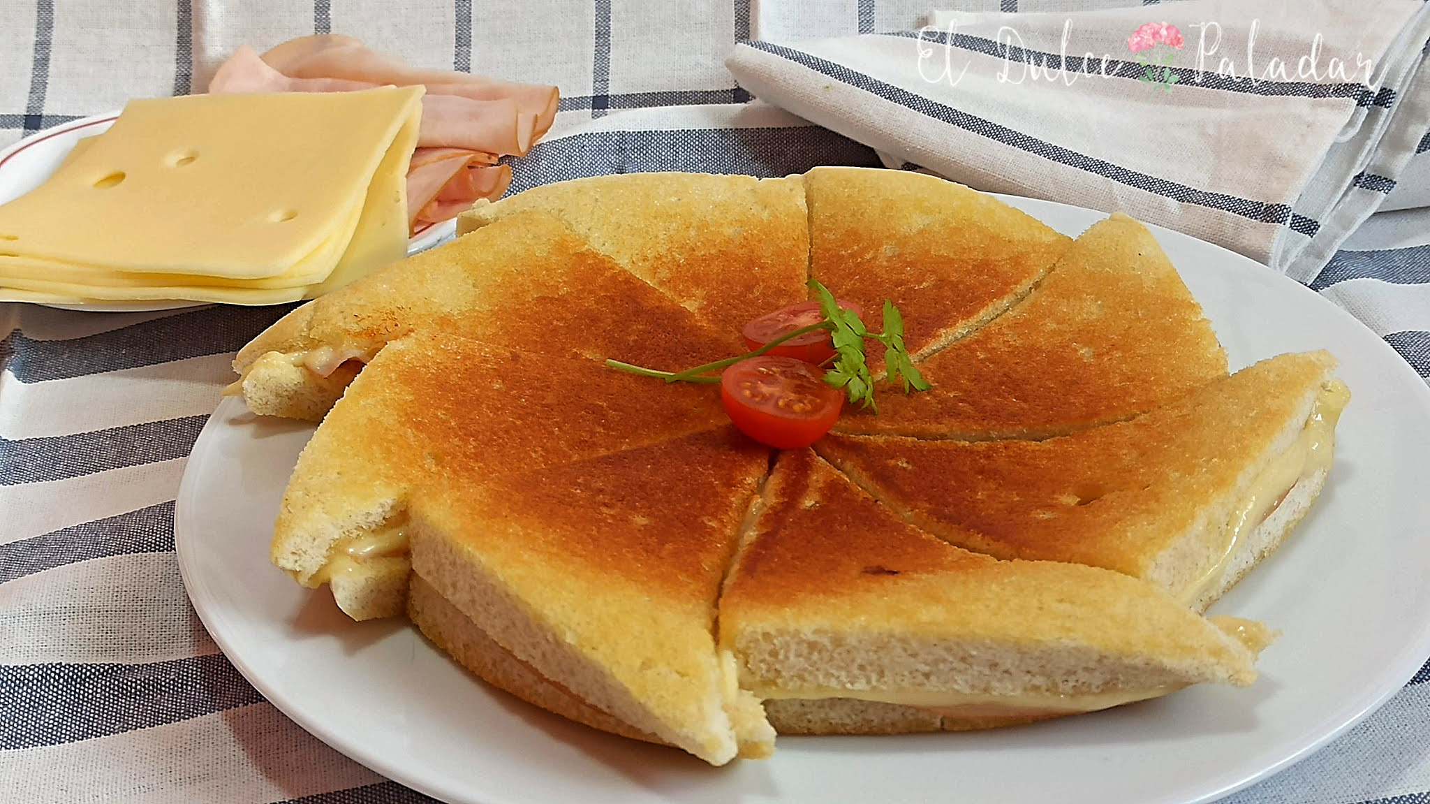 medallones de jamón y queso