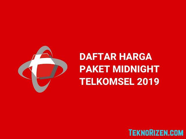 Daftar Harga Paket Internet Malam Telkomsel Terbaru 2019