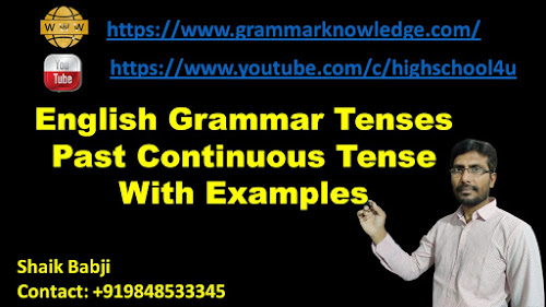 English Grammar Tenses Past Continuous Tense With Examples