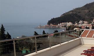 Blick von der Dachterrasse im Hotel Del Mar in Petrovac