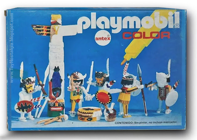 Playmobil COLOR 3620 - Antex - indians with totem front box