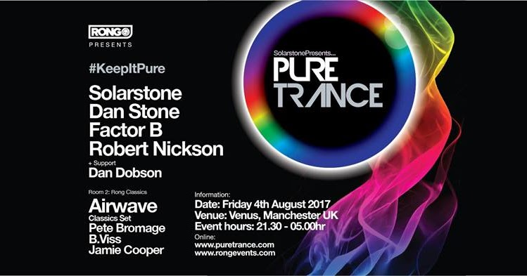 Event news rong solarstone pres pure trance at venus for Acid house bpm