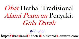 Obat Herbal tradisional alami penurun penyakit gula darah