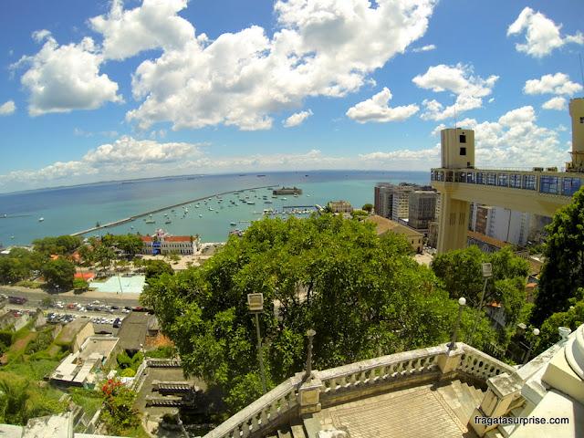 A Baía de Todos os Santos vista da varanda do Palácio Rio Branco