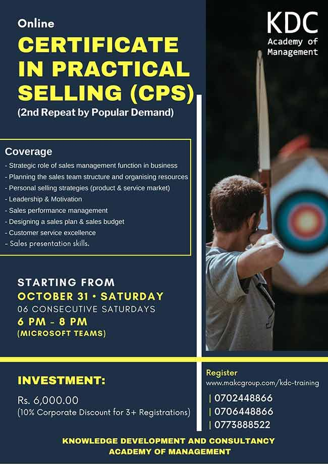 Certificate in Practical Selling (CPS).