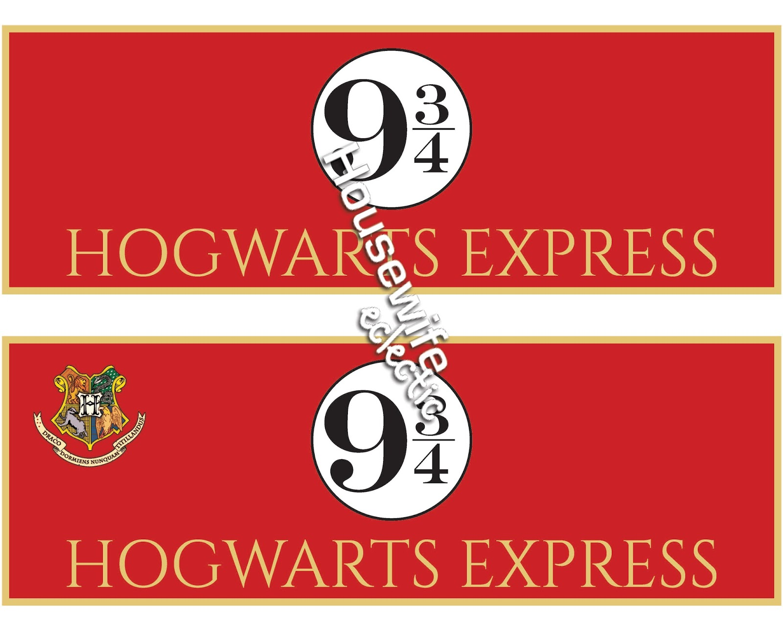 picture relating to Hogwarts Express Printable titled Harry Potter Trunk or Take care of with Absolutely free Printable System 9 3