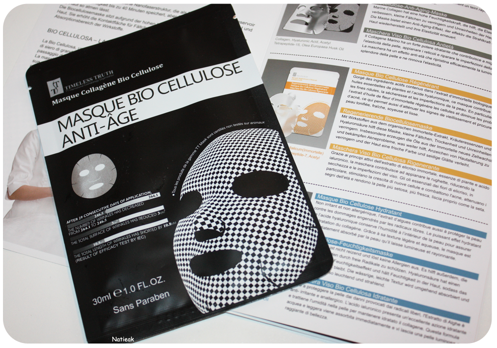 le masque bio cellulose anti-âge
