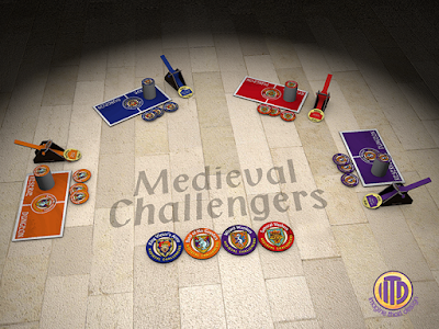 3D model of Medieval Challengers a game designed and created by ITD Games