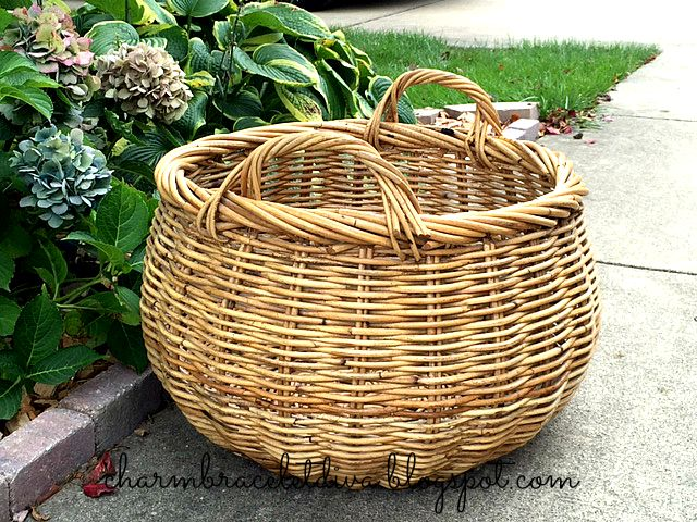 Large basket from thift store
