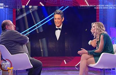 Francesca Fialdini con Giancarlo magalli