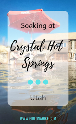 Soaking at Crystal Hot Springs, Hot Springs in Utah