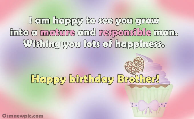 Heart touching happy birthday wishes for Young brother in hindi