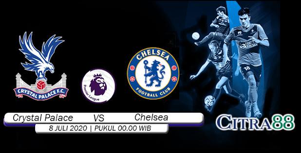 Citrabetonline – Menyajikan Prediksi Bola dan Tebak Skor Crystal Palace VS Chelsea 8 Juli 2020 Tepatnya Pada hari Rabu, 2020 pukul 00:00 waktu indonesia barat akan di adakan laga pertandingan Liga Inggris ( English Premier League ) yang akan di laksanakan di Stadion Selhurst Park.