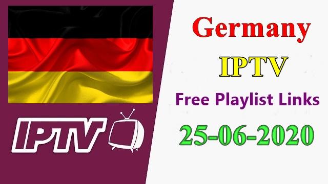 Free IPTV Germany Daily M3U Playlists 25-6-2020