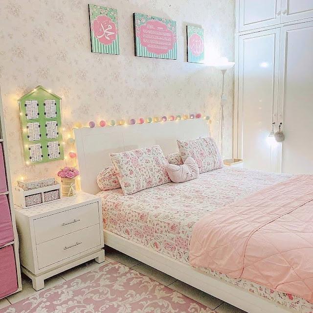 Kamar Tidur Minimalis dengan Nuansa Pink