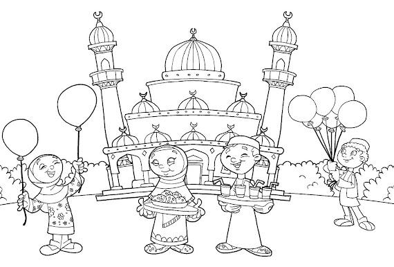 [Gratis!√] Gambar Islami Untuk Mewarnai