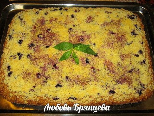 Смородиновый пирог со штрейзелем