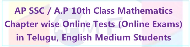 A.P 10th Class Mathematics Chapter wise Online Tests