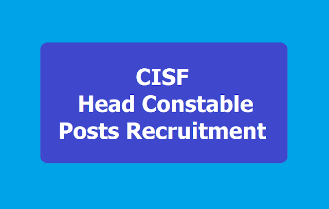 CISF Head Constable Posts