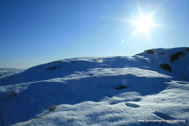 Cumbrian hills in the snow
