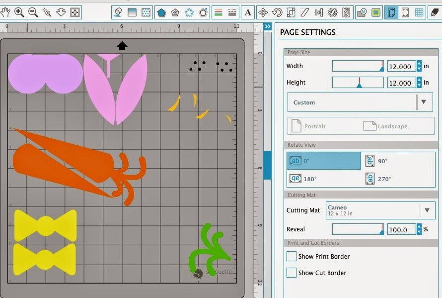 Silhouette Studio, select by color tool, Silhouette tutorial, page settings, cutting mat
